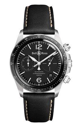 "Мужские часы ""black steel"" BELL & ROSS черного цвета, арт. BRV294-BL-ST/SCA | Фото 1"