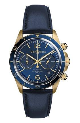 Мужские часы vintage aeronavale chrono BELL & ROSS синего цвета, арт. BRV294-BLU-BR/SCA | Фото 1