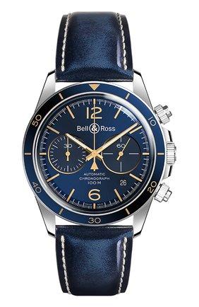 "Мужские часы ""v2-94 aeronavale"" BELL & ROSS синего цвета, арт. BRV294-BU-G-ST/SCA | Фото 1"