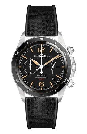 Мужские часы vintage br v2-94 steel heritage BELL & ROSS черного цвета, арт. BRV294-HER-ST/SRB | Фото 1
