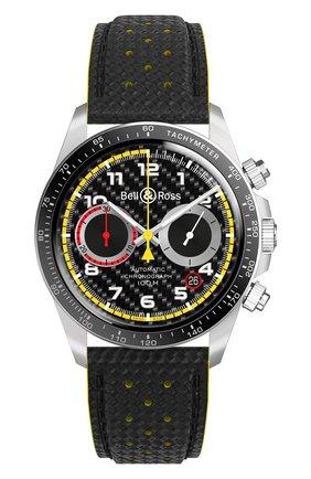 Мужские часы br v2-94 r.s.18 BELL & ROSS черного цвета, арт. BRV294-RS18/SCA | Фото 1
