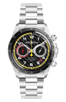 Мужские часы br v2-94 r.s.18 BELL & ROSS черного цвета, арт. BRV294-RS18/SST | Фото 1