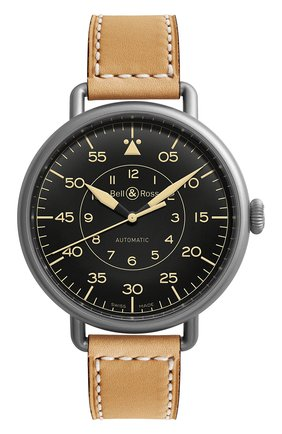 Мужские часы heritage BELL & ROSS черного цвета, арт. BRWW192-HER/SCA | Фото 1