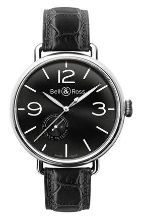 Мужские часы reserve de marche BELL & ROSS черного цвета, арт. BRWW197-BL-ST/SCR | Фото 1