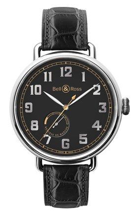 Мужские часы heritage BELL & ROSS черного цвета, арт. BRWW197-HER-ST/SCR | Фото 1