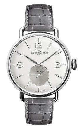 Мужские часы argentium opalin BELL & ROSS белого цвета, арт. BRWW1-ME-AG-OP/SCR | Фото 1