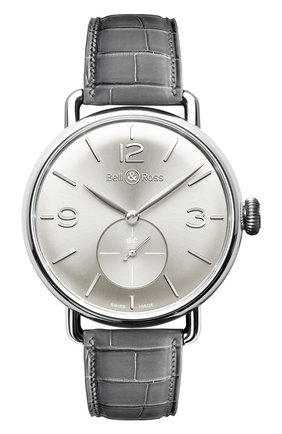 Мужские часы argentium silver BELL & ROSS серебряного цвета, арт. BRWW1-ME-AG-SI/SCR | Фото 1