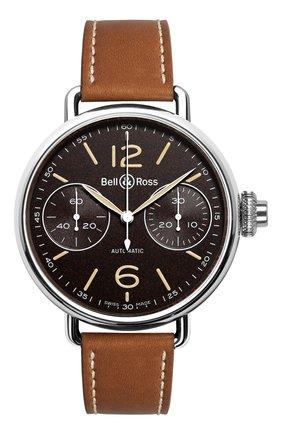 Мужские часы chronographe monopoussoir heritage BELL & ROSS черного цвета, арт. BRWW1-MONO-HER/SCA | Фото 1