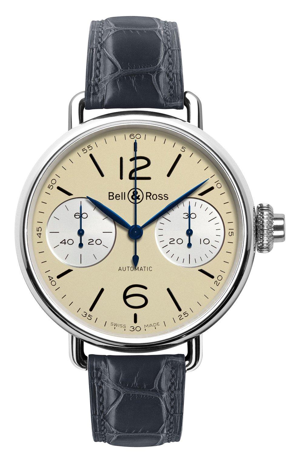 Мужские часы chronographe monopoussoir ivory BELL & ROSS бежевого цвета, арт. BRWW1-MONO-IVO/SCR   Фото 1