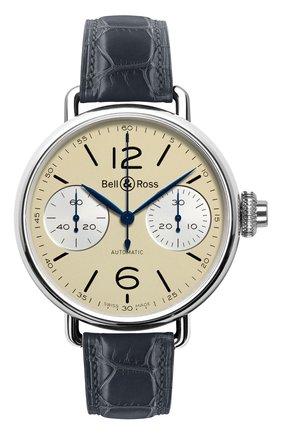 Мужские часы chronographe monopoussoir ivory BELL & ROSS бежевого цвета, арт. BRWW1-MONO-IVO/SCR | Фото 1