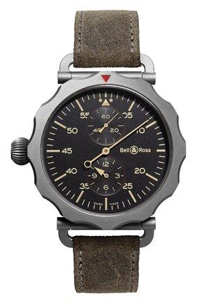 Мужские часы regulateur heritage BELL & ROSS черного цвета, арт. BRWW2-REG-HER/SCA | Фото 1