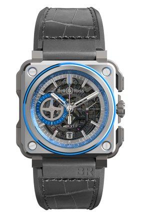 Мужские часы hyperstellar BELL & ROSS серого цвета, арт. BRX1-AL-TI-BLU | Фото 1