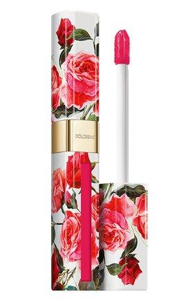 Матовый лак для губ dolcissimo, 19 raspberry DOLCE & GABBANA бесцветного цвета, арт. 8958950DG | Фото 1