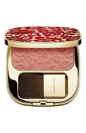 Румяна с эффектом сияния blush of roses, 400 peach DOLCE & GABBANA бесцветного цвета, арт. 8958750DG | Фото 1
