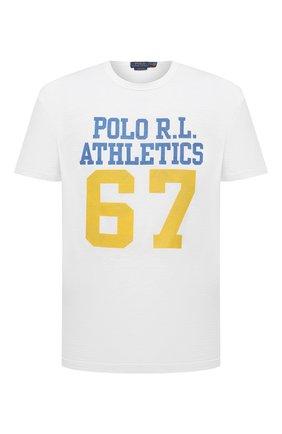 Мужская хлопковая футболка POLO RALPH LAUREN белого цвета, арт. 710839219 | Фото 1