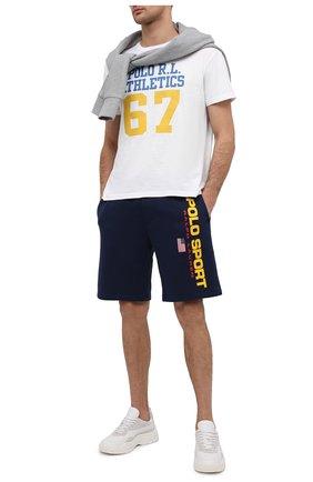 Мужская хлопковая футболка POLO RALPH LAUREN белого цвета, арт. 710839219 | Фото 2