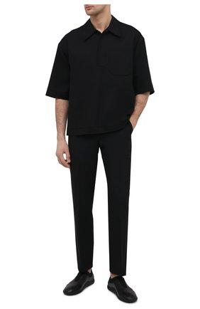 Мужские кожаные кроссовки BOTTEGA VENETA черного цвета, арт. 651305/V03V1 | Фото 2 (Материал внутренний: Натуральная кожа; Подошва: Плоская; Стили: Гранж)