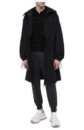 Мужское поло NEIL BARRETT черного цвета, арт. PBMA973E/Q600 | Фото 2