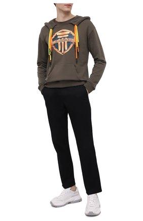 Мужской хлопковое худи DIEGO VENTURINO хаки цвета, арт. SS21-DV FLHLC BBPU | Фото 2