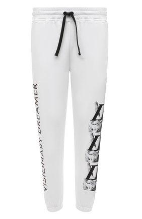 Мужские хлопковые джоггеры DIEGO VENTURINO белого цвета, арт. SS21-DV PNT VDL | Фото 1