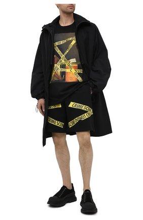 Мужские хлопковые шорты DIEGO VENTURINO черного цвета, арт. SS21-DV SRT MCS | Фото 2
