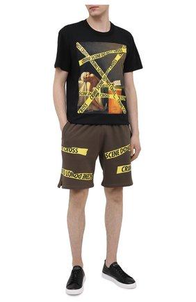 Мужские хлопковые шорты DIEGO VENTURINO хаки цвета, арт. SS21-DV SRT MCS   Фото 2