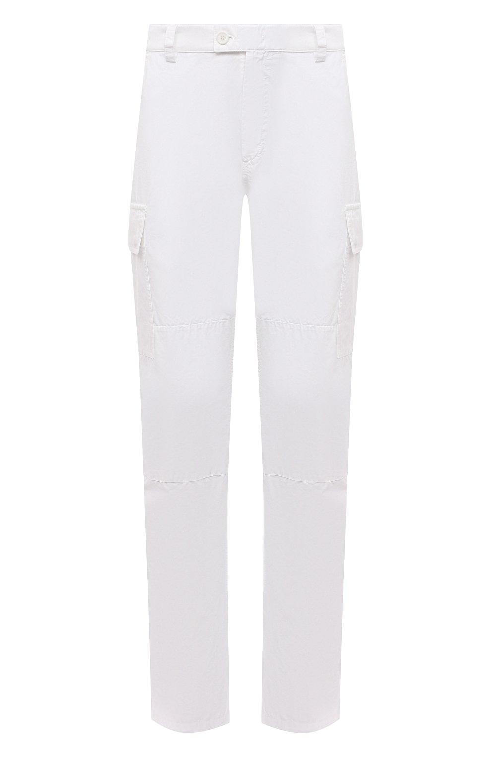 Мужские хлопковые брюки-карго ASPESI белого цвета, арт. S1 A CP31 G178   Фото 1 (Силуэт М (брюки): Карго; Длина (брюки, джинсы): Стандартные; Случай: Повседневный; Материал внешний: Хлопок; Стили: Кэжуэл)