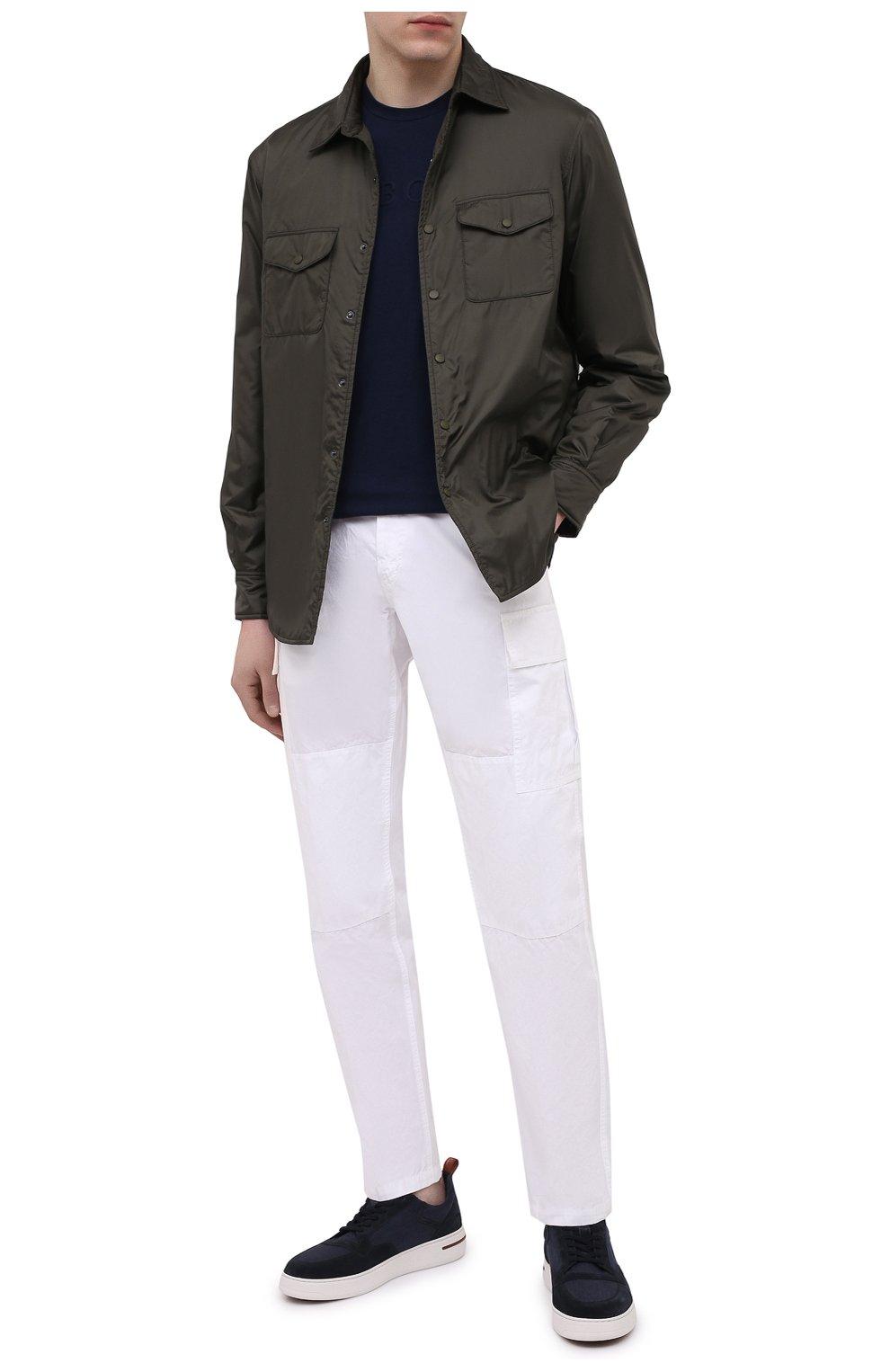 Мужские хлопковые брюки-карго ASPESI белого цвета, арт. S1 A CP31 G178   Фото 2 (Силуэт М (брюки): Карго; Длина (брюки, джинсы): Стандартные; Случай: Повседневный; Материал внешний: Хлопок; Стили: Кэжуэл)