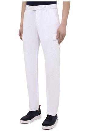Мужские хлопковые брюки-карго ASPESI белого цвета, арт. S1 A CP31 G178   Фото 3 (Силуэт М (брюки): Карго; Длина (брюки, джинсы): Стандартные; Случай: Повседневный; Материал внешний: Хлопок; Стили: Кэжуэл)