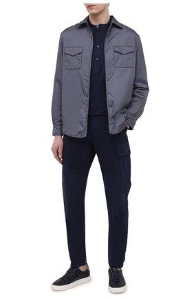 Мужские хлопковые брюки-карго ASPESI темно-синего цвета, арт. S1 A CP31 G178 | Фото 2 (Силуэт М (брюки): Карго; Длина (брюки, джинсы): Стандартные; Случай: Повседневный; Материал внешний: Хлопок; Стили: Кэжуэл)