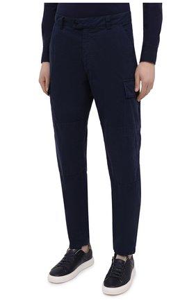 Мужские хлопковые брюки-карго ASPESI темно-синего цвета, арт. S1 A CP31 G178 | Фото 3 (Силуэт М (брюки): Карго; Длина (брюки, джинсы): Стандартные; Случай: Повседневный; Материал внешний: Хлопок; Стили: Кэжуэл)