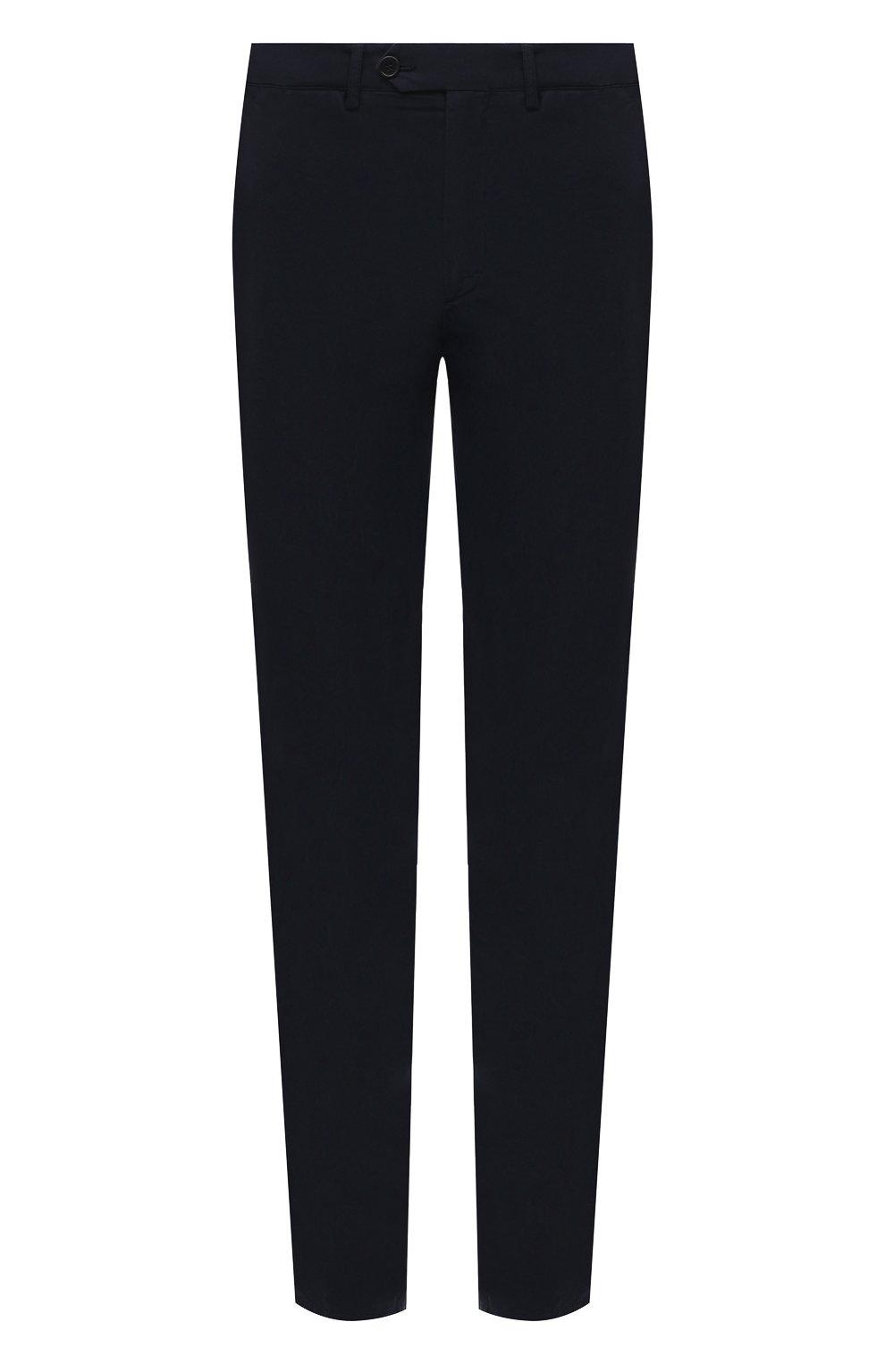 Мужские хлопковые брюки ASPESI темно-синего цвета, арт. S1 A CP24 G178 | Фото 1 (Силуэт М (брюки): Чиносы; Длина (брюки, джинсы): Стандартные; Случай: Повседневный; Материал внешний: Хлопок; Стили: Кэжуэл)
