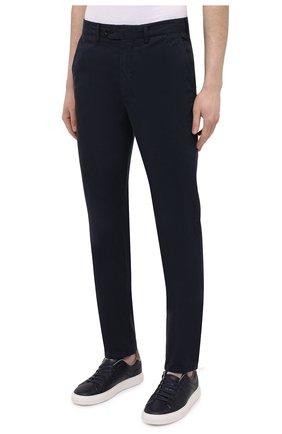Мужские хлопковые брюки ASPESI темно-синего цвета, арт. S1 A CP24 G178 | Фото 3 (Силуэт М (брюки): Чиносы; Длина (брюки, джинсы): Стандартные; Случай: Повседневный; Материал внешний: Хлопок; Стили: Кэжуэл)