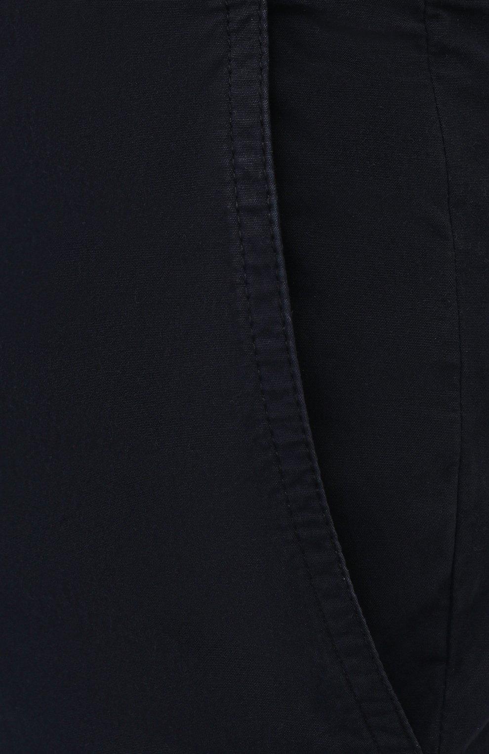 Мужские хлопковые брюки ASPESI темно-синего цвета, арт. S1 A CP24 G178 | Фото 5 (Силуэт М (брюки): Чиносы; Длина (брюки, джинсы): Стандартные; Случай: Повседневный; Материал внешний: Хлопок; Стили: Кэжуэл)