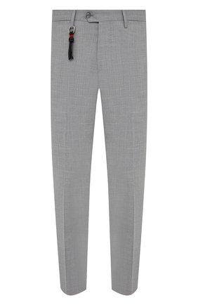Мужские брюки из шерсти и шелка MARCO PESCAROLO серого цвета, арт. SLIM80/4340   Фото 1
