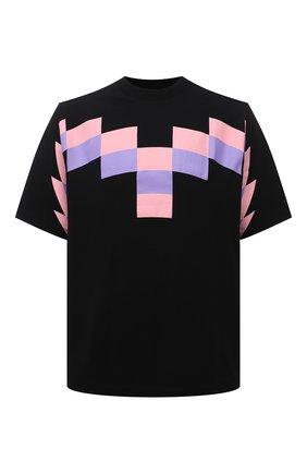 Мужская хлопковая футболка MARCELO BURLON черного цвета, арт. CMAA054R21JER003 | Фото 1