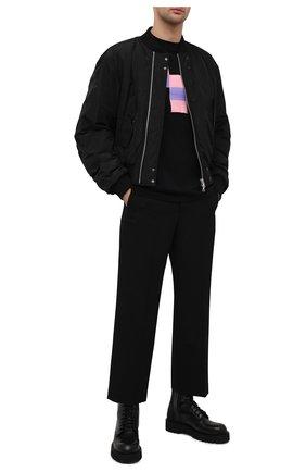Мужская хлопковая футболка MARCELO BURLON черного цвета, арт. CMAA054R21JER003 | Фото 2