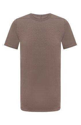 Мужская хлопковая футболка RICK OWENS светло-коричневого цвета, арт. RU21S6264/JA | Фото 1