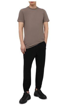 Мужская хлопковая футболка RICK OWENS светло-коричневого цвета, арт. RU21S6264/JA | Фото 2