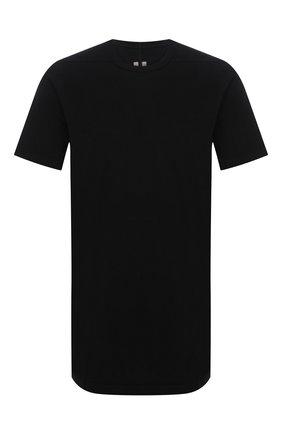 Мужская футболка из вискозы и шелка RICK OWENS черного цвета, арт. RU21S6264/JS | Фото 1