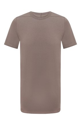 Мужская футболка из вискозы и шелка RICK OWENS светло-коричневого цвета, арт. RU21S6264/JS | Фото 1