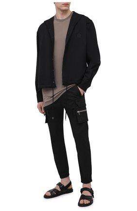 Мужская футболка из вискозы и шелка RICK OWENS светло-коричневого цвета, арт. RU21S6264/JS | Фото 2