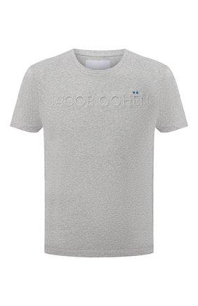 Мужская хлопковая футболка JACOB COHEN серого цвета, арт. J4074 00193-L/55 | Фото 1