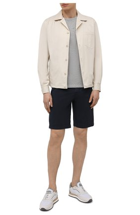 Мужская хлопковая футболка JACOB COHEN серого цвета, арт. J4074 00193-L/55 | Фото 2