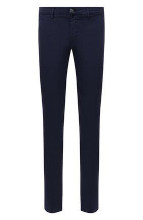 Мужские хлопковые брюки JACOB COHEN синего цвета, арт. B0BBY C0MF 08165-V/55 | Фото 1 (Случай: Повседневный; Длина (брюки, джинсы): Стандартные; Материал внешний: Хлопок; Стили: Кэжуэл; Силуэт М (брюки): Чиносы)