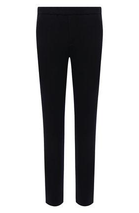 Мужские шерстяные брюки LORO PIANA темно-синего цвета, арт. FAL5619 | Фото 1 (Длина (брюки, джинсы): Стандартные; Случай: Повседневный; Материал внешний: Шерсть; Мужское Кросс-КТ: Брюки-трикотаж; Стили: Кэжуэл; Материал подклада: Синтетический материал)
