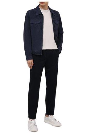 Мужские шерстяные брюки LORO PIANA темно-синего цвета, арт. FAL5619 | Фото 2