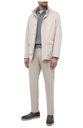 Мужские замшевые лоферы SANTONI темно-серого цвета, арт. MGDT17459TAAEPMSG62 | Фото 2 (Стили: Кэжуэл; Материал внутренний: Натуральная кожа; Мужское Кросс-КТ: Лоферы-обувь; Материал внешний: Замша)