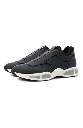 Мужские кожаные кроссовки sprinter Z ZEGNA синего цвета, арт. A4964X-LHG0E | Фото 1 (Материал внутренний: Текстиль; Подошва: Массивная; Стили: Гранж)