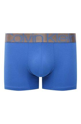 Мужские хлопковые боксеры CALVIN KLEIN синего цвета, арт. NB2537A | Фото 1
